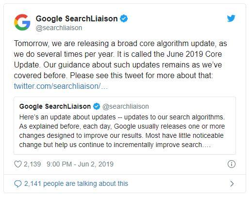 Google June Core Update - Mise a jour SEO - 3SC Global Services