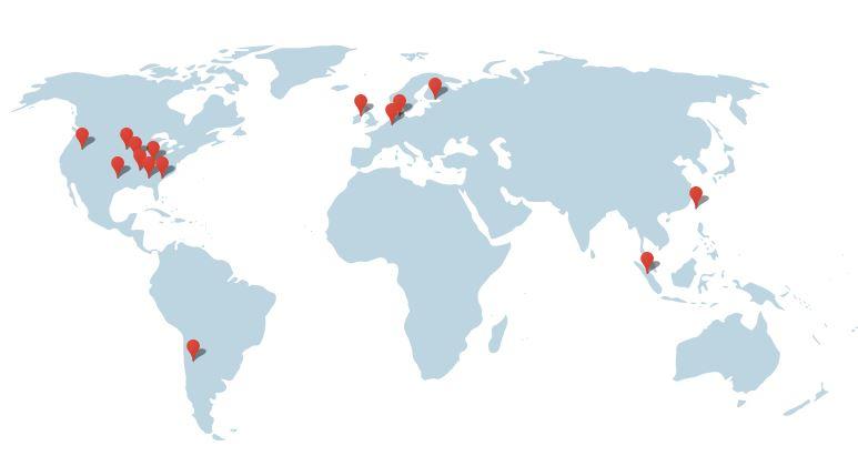 Localisation des Data Centers Google dans le monde